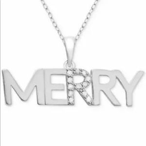 COPY - Macy's Diamond and Sterling Silver Merry 1…